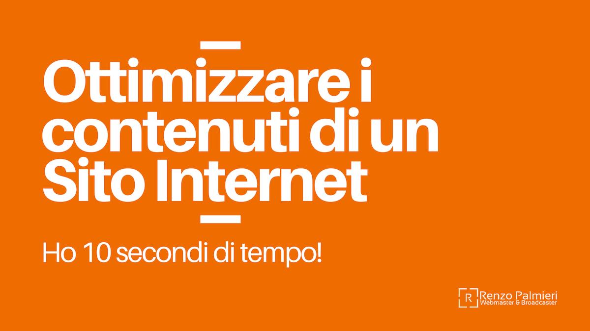 Come ottimizzare i contenuti di un Sito Internet