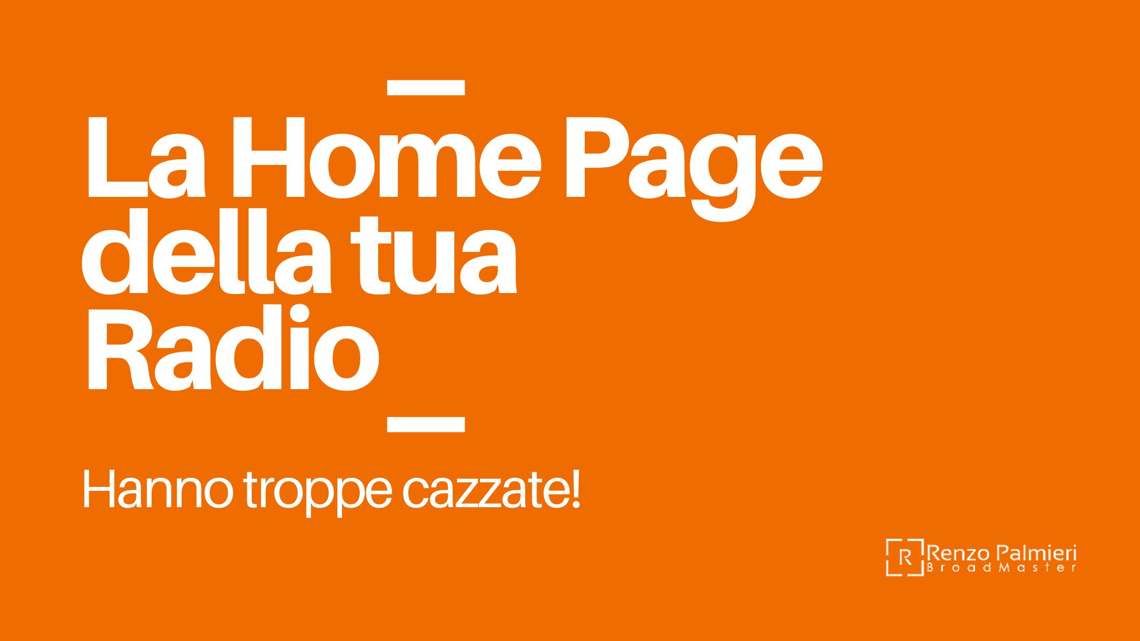 La Home Page della tua Radio